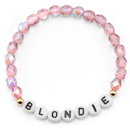 "Namensarmband mit Wunschbuchstaben - Perlen ""Rosa"""