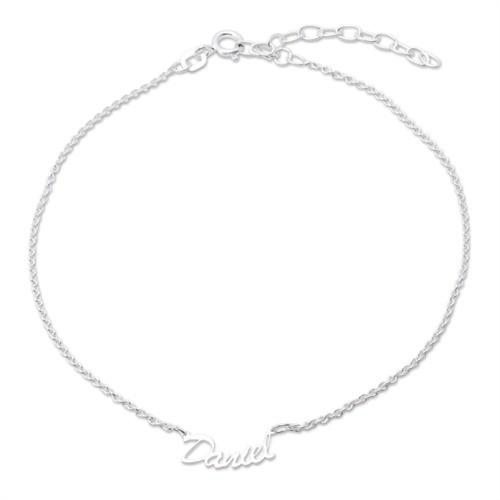Namensfußkette aus Silber
