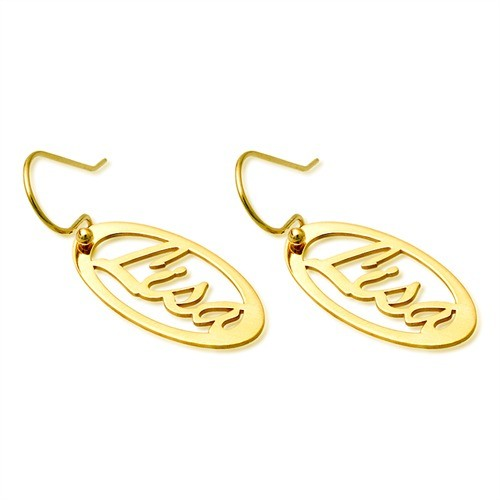 Individuelle Ohrhänger – vergoldete Namensohringe
