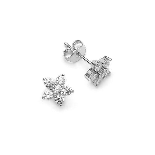 Ohrring Blume - 925 Sterlingsilber