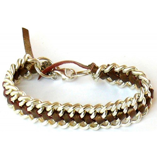 Kettenarmband – silber & metallic gold