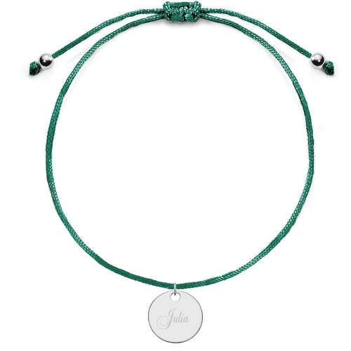 Kinderarmband mit runder Gravurplatte | individuell gravierbar