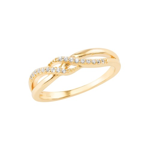 Ring Deluxe mit Zirkonia - 925 Sterlingsilber