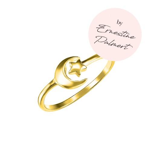 Ring Mond & Stern by Ernestine Palmert - 925 Sterlingsilber