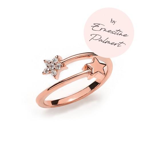 Stern-Ring by Ernestine Palmert - 925 Sterlingsilber