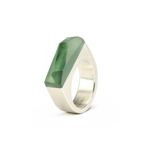 Ring CRYSTAL_green_L