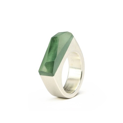 Ring CRYSTAL_green_L