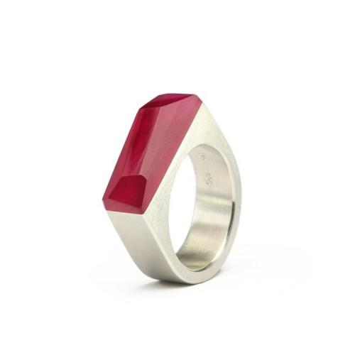 Ring CRYSTAL_ruby_L