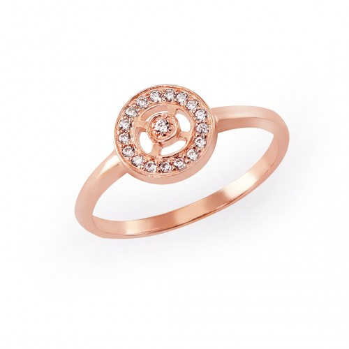 Silberring Lena - 925-Sterlingsilber rosévergoldet