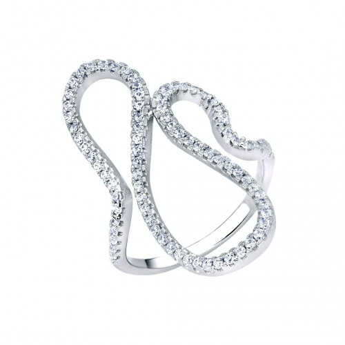 Ring Zirkoniawelle - 925 Sterlingsilber