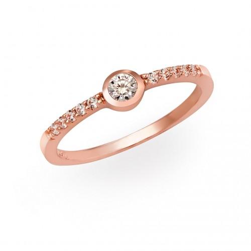 Ring Simple Love 925-Sterlingsilber-Rosegold vergoldet