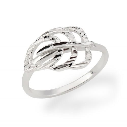 Ring Blatt - 925 Sterlingsilber