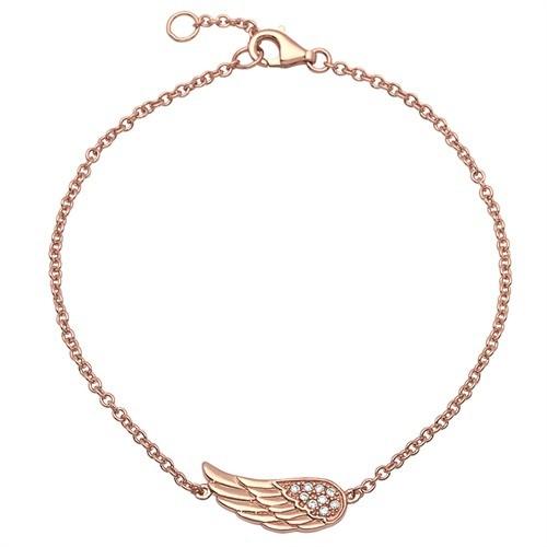 Engelsflügel-Armband 925er Silber rosévergoldet