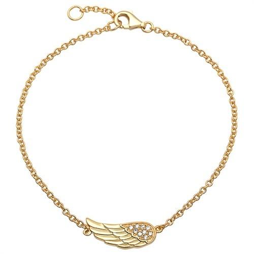 Engelsflügel-Armband 925er Silber gelbvergoldet