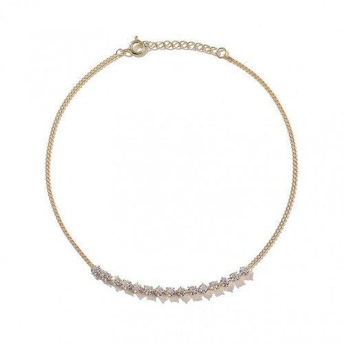 Solitaire Curb Choker - Pour Toi Jewelry