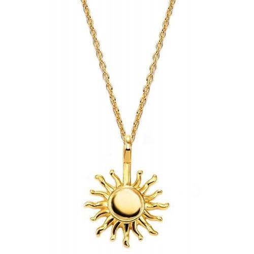 Halskette Sonne - 925 Sterlingsilber