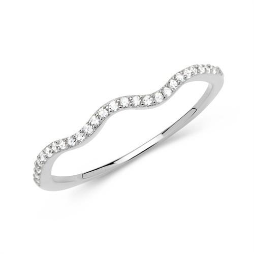 Filigraner Ring aus 925 Sterlingsilber mit Zirkonia