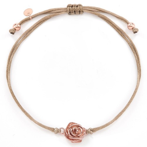 Stoffarmband Desert Rose - 925 Sterlingsilber