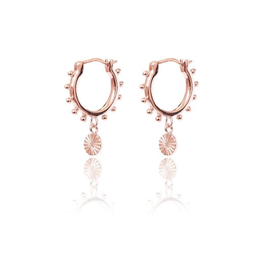 Coin Creolen, Roségold - Pour Toi Jewelry