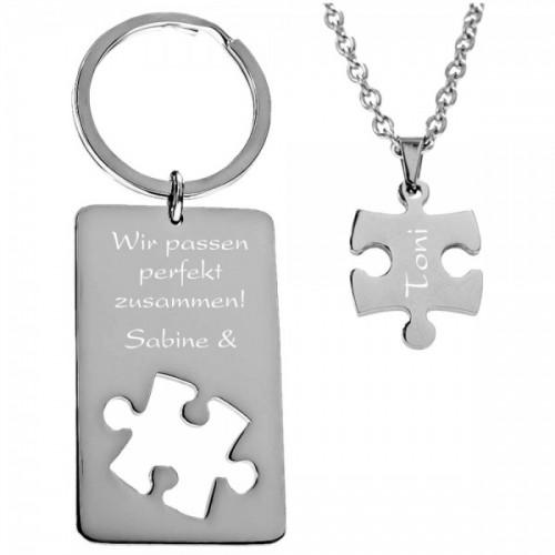 Geschenk-Set Halskette und Schlüsselanhänger