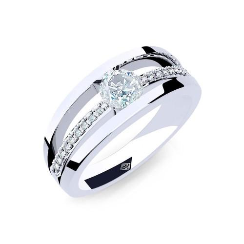 Verlobungsring Aphrodite mit Zirkonia - 925 Sterlingsilber