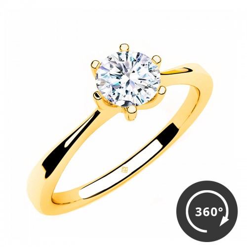 "Verlobungsring ""Tender Solitaire"" – Gold"