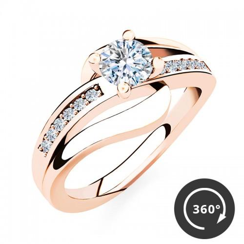 "Verlobungsring ""Infinity Elegance"" – Rosé"