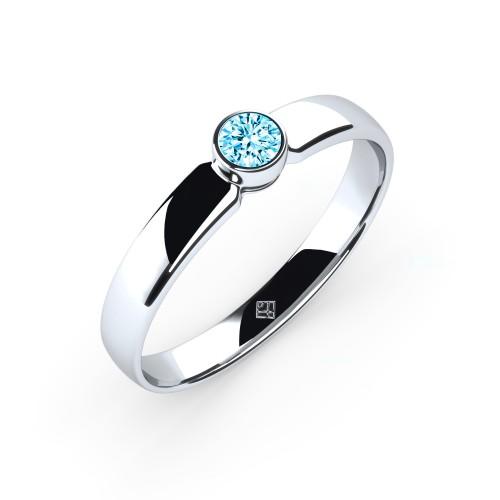 "Verlobungsring ""Simple Diamond"" mit Swarovski® Element Aquamarin"