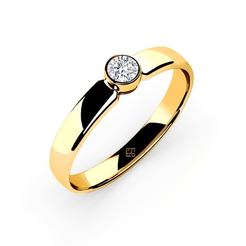 "Verlobungsring ""Simple Diamond"" Gold"