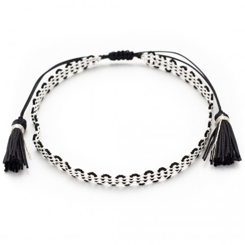 "Armband ""Black&Silver"""