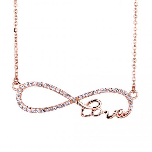 Infinity Love Halskette - 925 Sterlingsilber