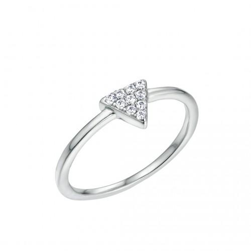 Ring Dreieck - 925 Sterlingsilber