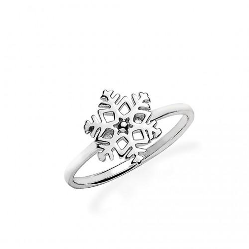 """Ring """"Schneeflocke"""" - 925 Sterlingsilber"""