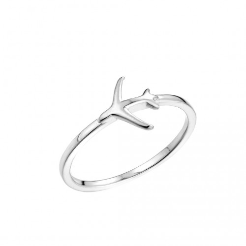 "Ring ""Plane"" 925 Sterlingsilber"