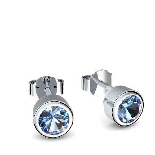 Ohrringe Silber Blautopas (Silber 925) - Blumen - Whisper Love Amoonic