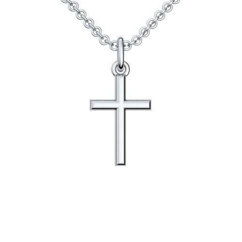 Kreuzkette Silber 925 Kette Kreuzanhänger - Kreuz - Cross AMOONIC