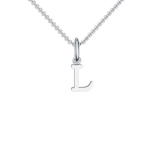 Buchstaben Kette Silber 925 - Kette mit Buchstabe L - Love Letter L AMOONIC