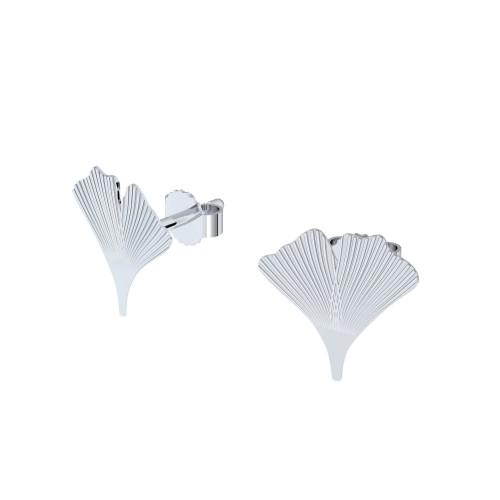 Ohrringe Ohrstecker Silber 925 - Ginkgo Blatt - Flowerly Parts AMOONIC