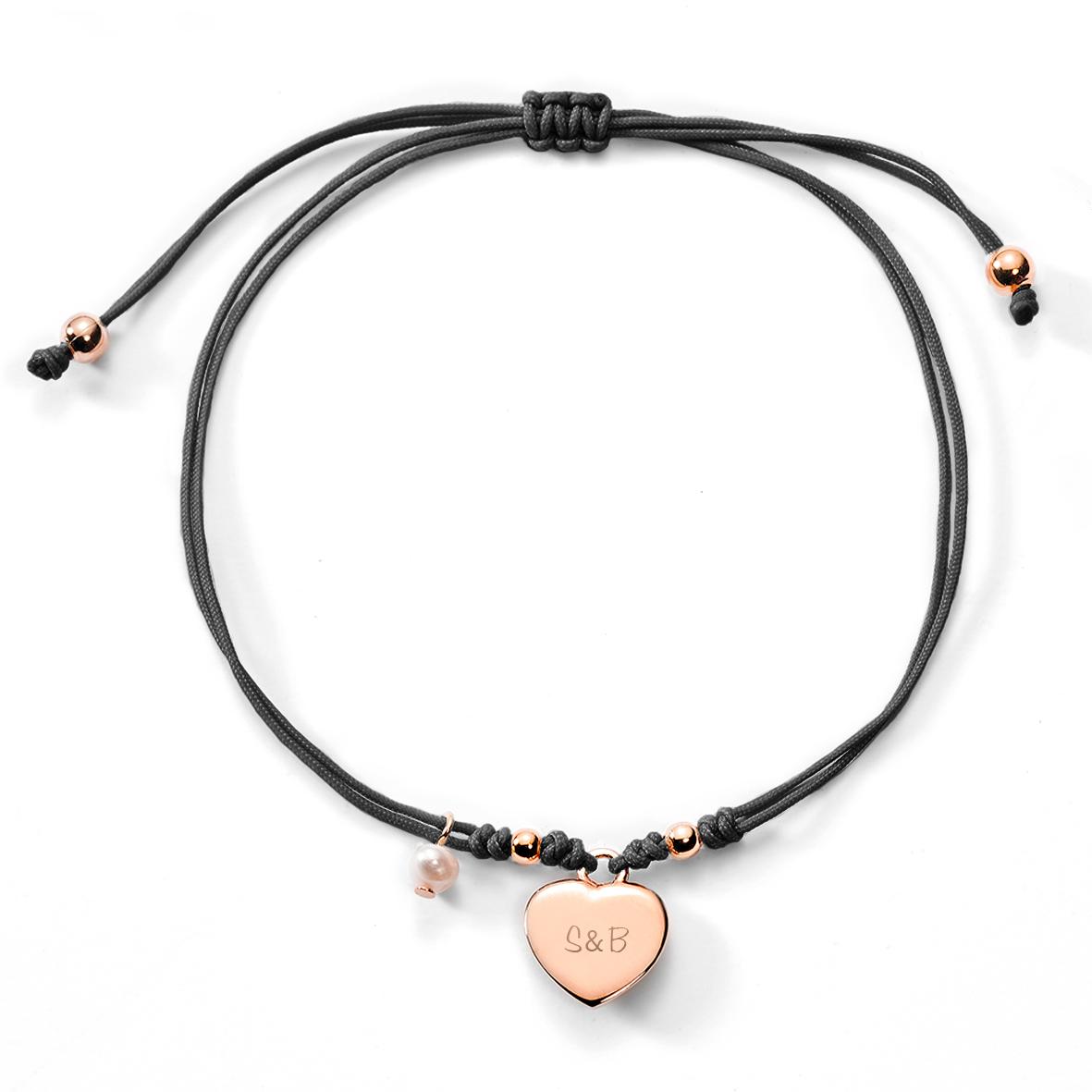 Geflochtenes lederarmband mit gravur  Herz-Armband mit Gravur online kaufen bei schmuckladen.de