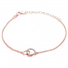 Armband Double Circle - 925 Sterlingsilber