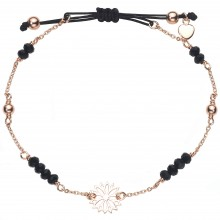"Armband ""Black Flower"" - 925 Sterlingsilber"