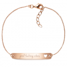 "Armband ""good fucking vibes"" - 925 Sterlingsilber 