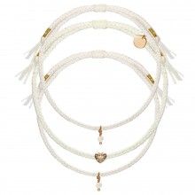"Armband-Set ""White Mini Pearl"""