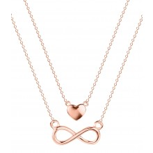 Halskette Double Chain Infinity-Love - 925 Sterlingsilber
