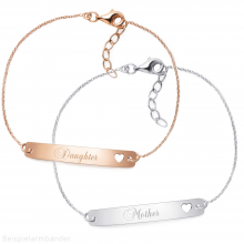 "Armband-Set ""Mother & Daughter"" - 925 Sterlingsilber"
