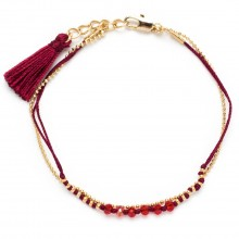 Armband Red Pearls