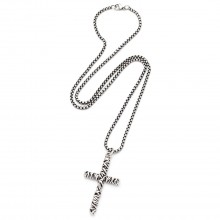 "Herren-Halskette "" Braided Cross"""