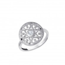 "Ring ""Ornament mit Zirkonia"" - 925 Sterlingsilber"