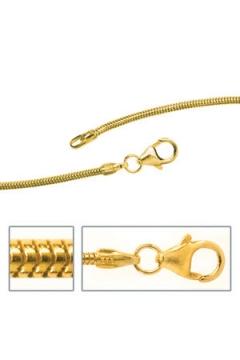 Schlangenkette 1,4 mm Gold Halskette Karabiner
