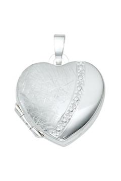 Medaillon 925 Sterling Silber teileismatt